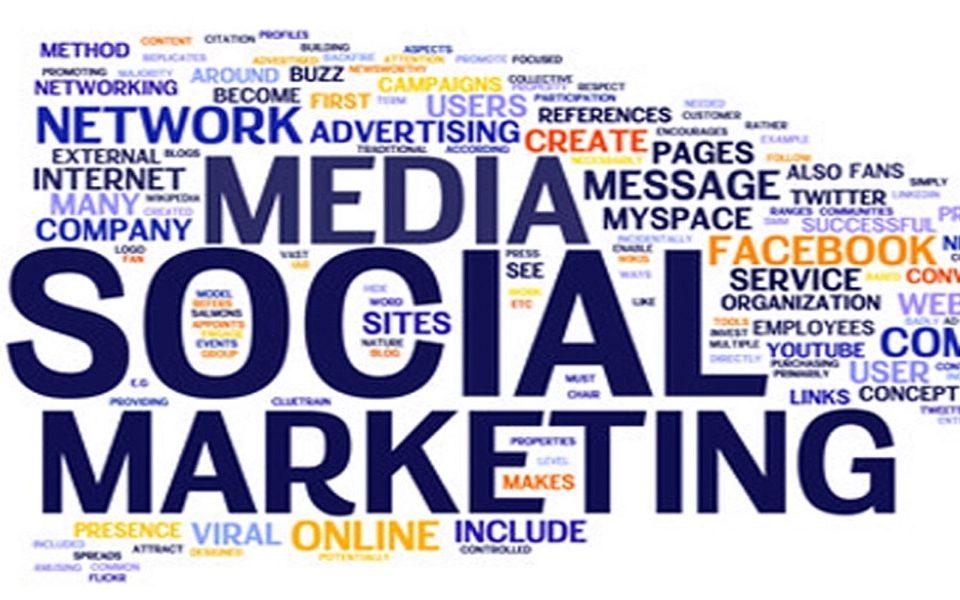 social media marketing written in big font size