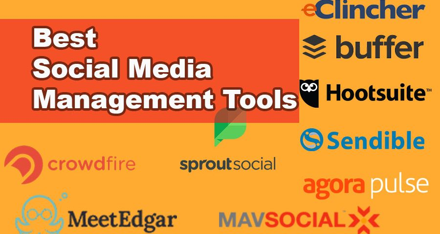 Most Popular Social Media Management Software Brand with Logo